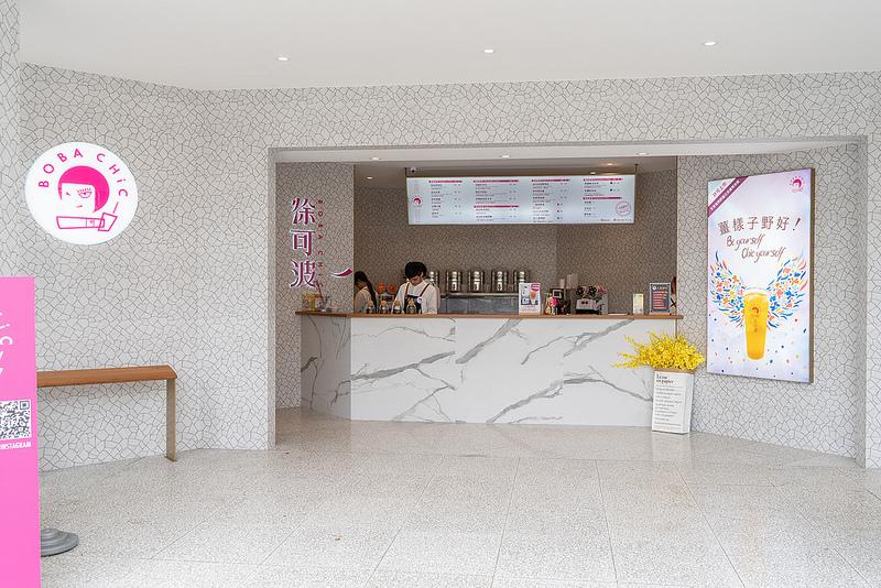 【台中·北區】Boba Chic 徐可波|純白色系整體裝潢的好有質感,馬上就想進來買杯飲品。
